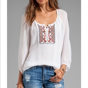 Sanctuary antropologie white blouse